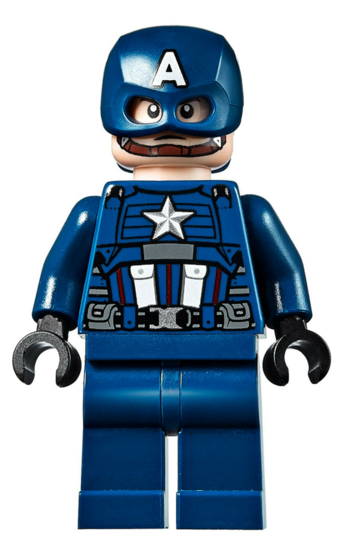 Lego Captain America 76017 Blue Suit Brown Belt Super Heroes Minifigure