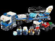 60244 Le transport de l'hélicoptère de la police