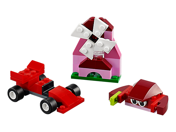 10707 Boîte de construction rouge
