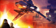 Palpatines Shuttle animation