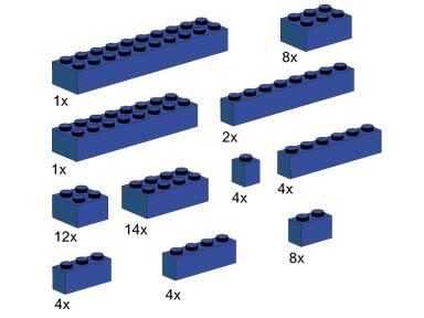 10009 Assorted Blue Bricks