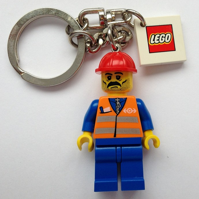 851037 Construction Worker Key Chain