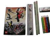 EL612 Dino Attack Pencil Set