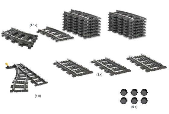 4206 9V Train Switching Track Collection