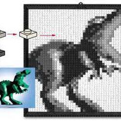 K34432 LEGO Mosaic Dino