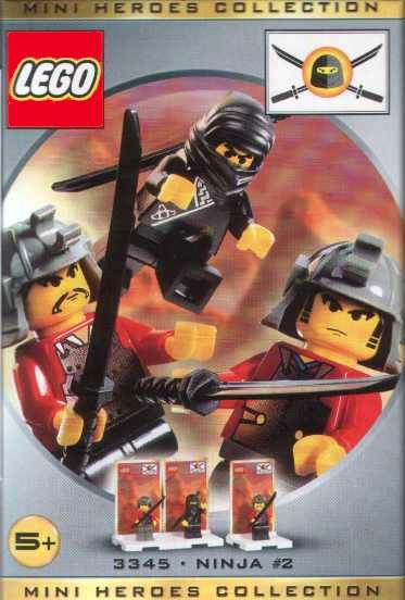 3345 Black Ninja and 2 Robbers