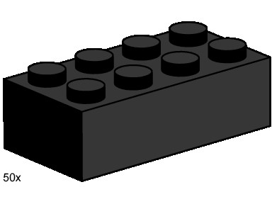 3458 2x4 Black Bricks