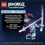 LEGO Ninjago Nindroids Général Cryptor