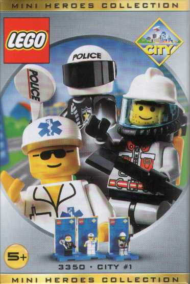 3350 Three Minifigure Pack - City 1
