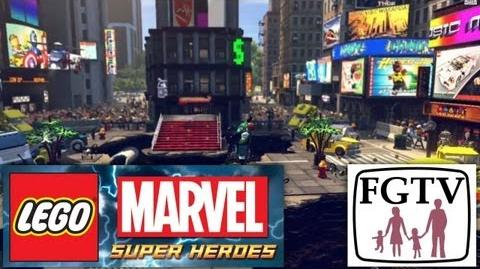 "LEGO Marvel Super Heroes NEW! ""Times Square"" ""Baxter Building"" ""Superior Spiderman"" Game Footage-1"