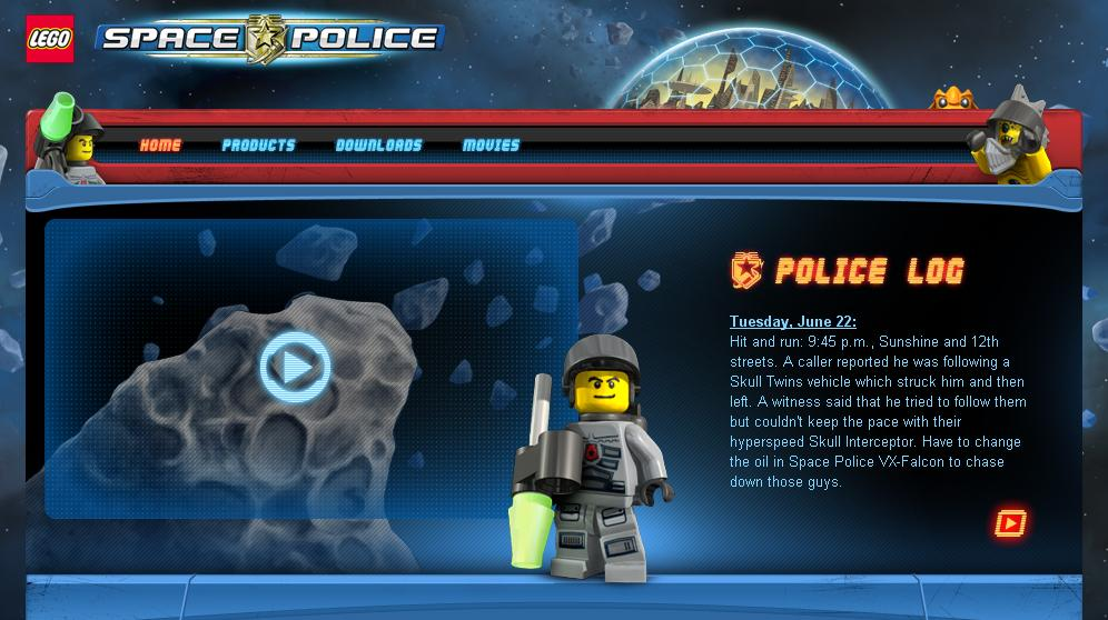 Space Police Stop-motion videos
