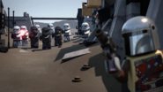 Mando and Imperial Troopers in the battle (Special)