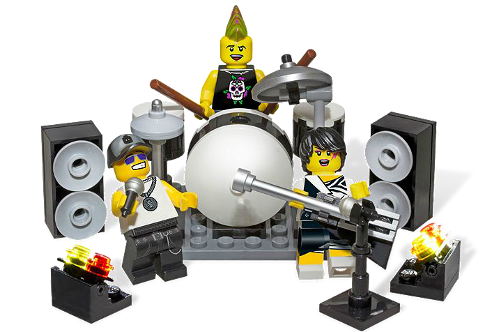 850486 Rock Band Minifigure Accessory Set