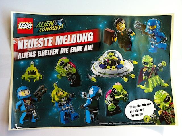 Sticker, Alien Conquest Sheet of 10