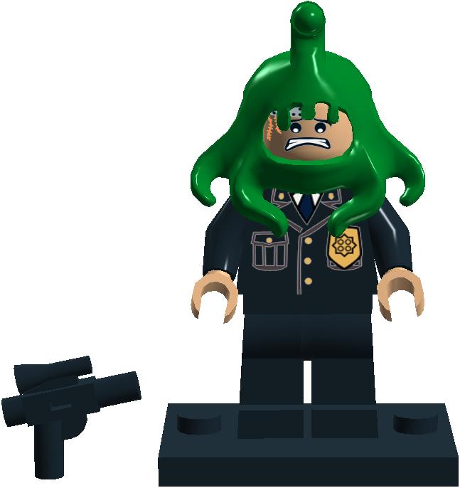 009 Cop with Alien