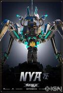 The LEGO Ninjago Movie Poster Nya Ign