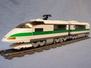 10157 high speed train with 10158 passenger car