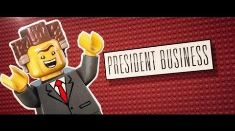 The LEGO Movie - Meet President Business
