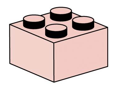 10004 2x2 Sand Red Bricks