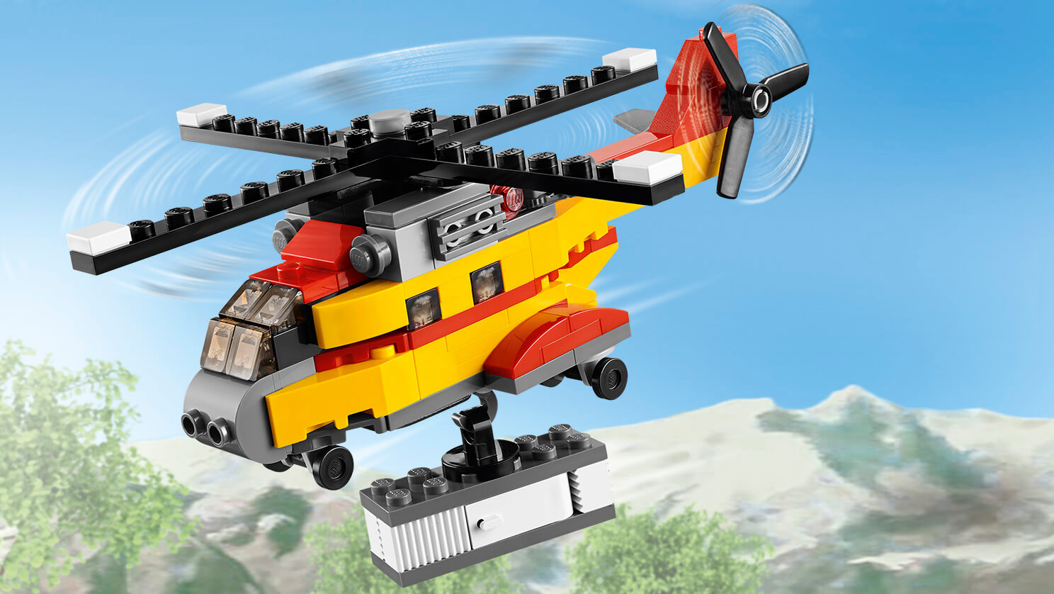 31029 L'hélicoptère cargo
