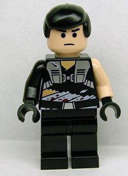 The front of the licensed minifigure Galen Marek.