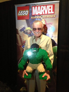 Stan Lee with LEGO Hulk
