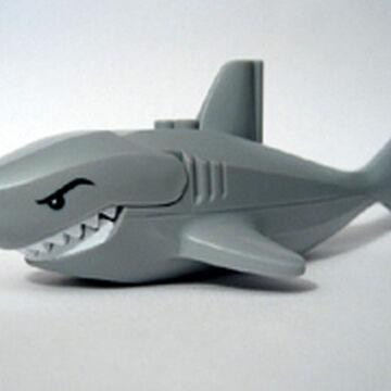 LEGO DARK GREY SHARK MINI FIGURE  ANIMAL OCEAN CREATURES FOR OLDER SETS