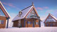 41323 Le chalet de la station de ski