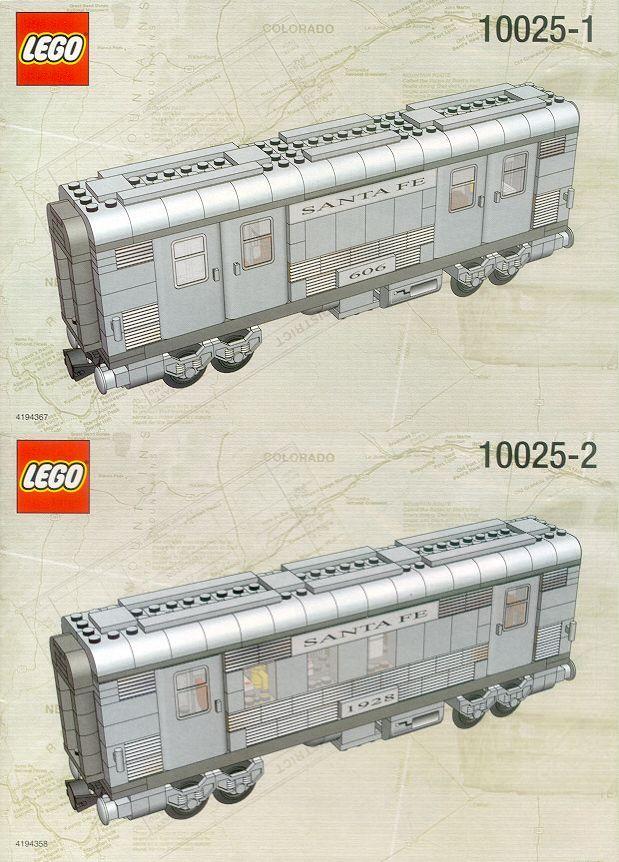 10025 Santa Fe Cars - Set I