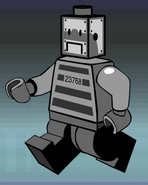 Comic adventures style Brickster-Bot