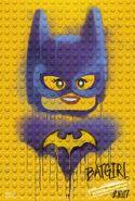 The LEGO Batman Movie Poster graffiti Batgirl