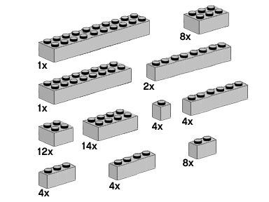 10145 Assorted Light Grey Bricks
