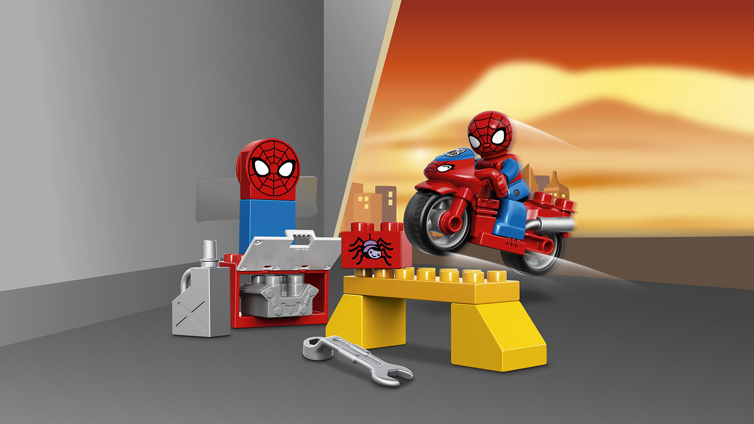 10607 L'atelier de la moto-araignée de Spider-Man