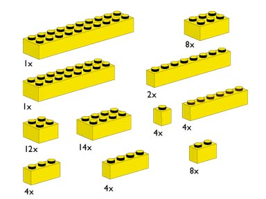 10010 Assorted Yellow Bricks
