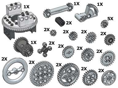 10076 TECHNIC Gear Wheels