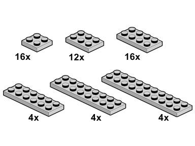 10060 Light Grey Plates