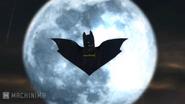 Bat logo on moon LB2