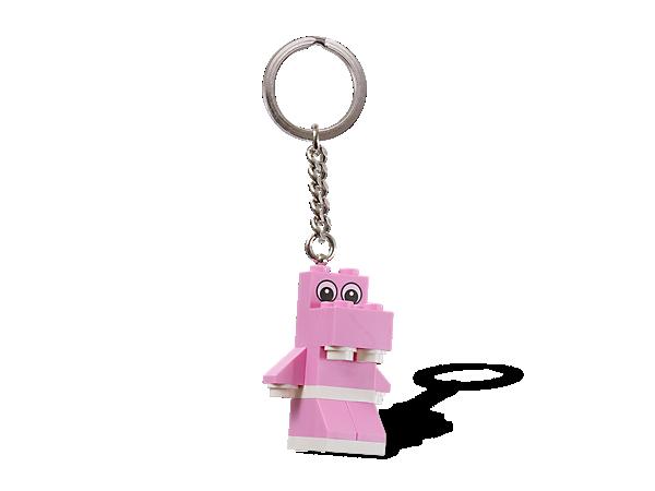 850416 Porte-clés Hippopotame rose