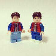 Marty McFly versions LEGO et Team BTTF