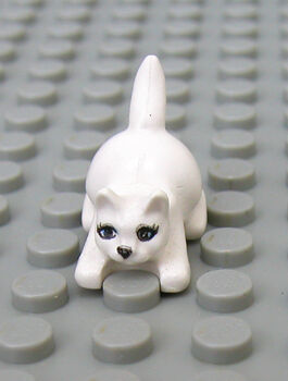 Boy//Girl Minifig Pet Farm Cat Harry Potter Lego NEW Friends Animal WHITE KITTEN