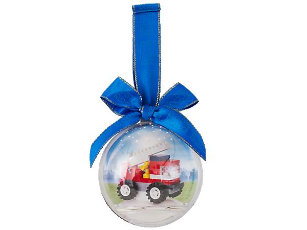 850842 Boule de Noël Camion de pompier