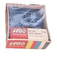 053 49 Assorted Basic Bricks - Blue Plus One 10 x 10 Stud Red Base Plate