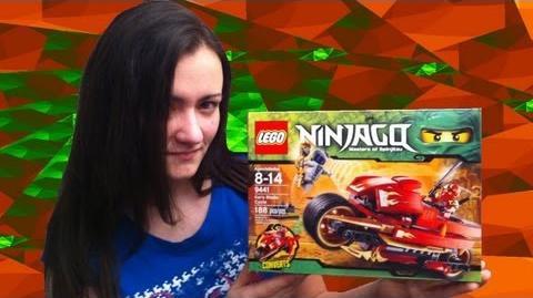 2012 Lego Ninjago 9441 Kai's Blade Cycle Lego 9441 Review