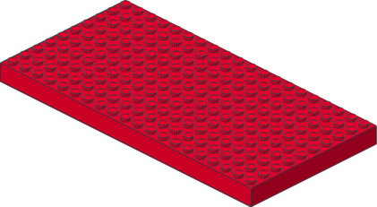 842 red & blue brick-baseplates