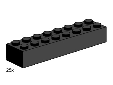 3463 2x8 Black Bricks