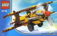 Yellow and Brown Biplane