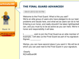 The Final Guard Advanced!