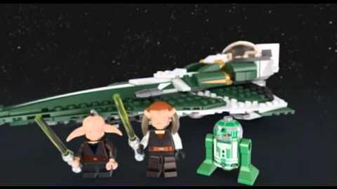 Lego 9498 Saesee Tiin's Jedi Starfighter - Lego 3D Review