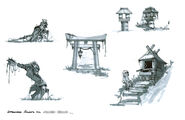 Approved shrine area sketches blurred