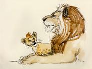 Lion king concept art character young simba 19